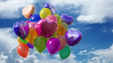 Colors Balloons Rubber Air Helium Fly Party