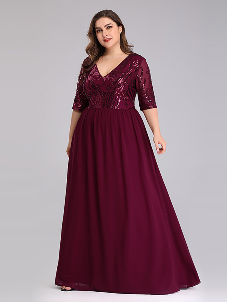 shestar wholesale plus size sexy sequins evening dress
