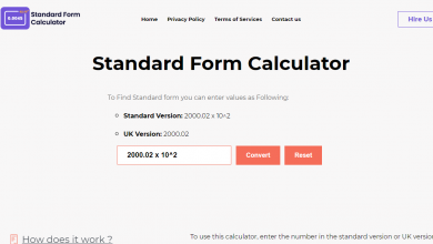 Photo of What is the Standard Form calculator?