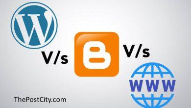 wordpress vs blogger vs static website