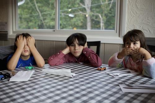 kids establishing routine