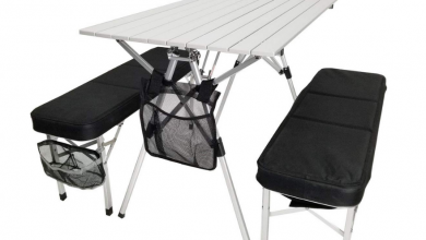 portable camping table and chairs